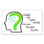 Free Thought Sticker (Rectangle)