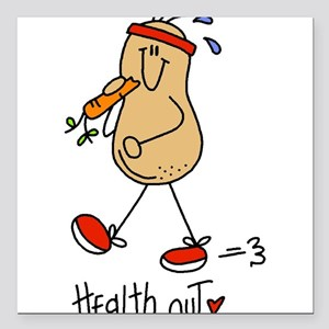 "Health Nut Square Car Magnet 3"" x 3"""