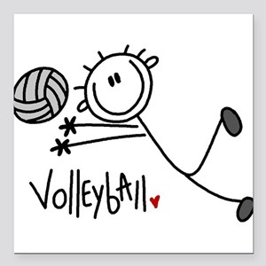"jdvolleyballone Square Car Magnet 3"" x 3"""