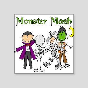 "monstermashhallow Square Sticker 3"" x 3"""
