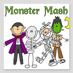 "monstermashhallow Square Car Magnet 3"" x 3"""