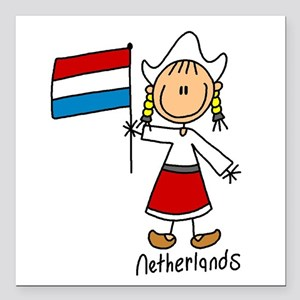 "wwwnetherlands Square Car Magnet 3"" x 3"""