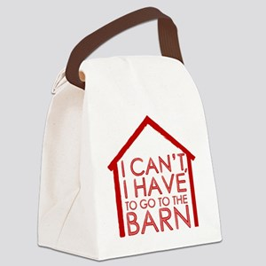 To The Barn Canvas Lunch Bag
