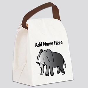 Personalized Elephant Canvas Lunch Bag