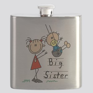 Swing Big Sister Little Brother Flask