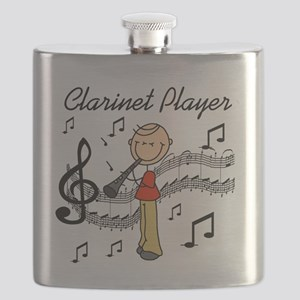 Clarinet Player Flask