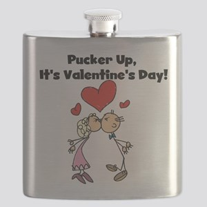 PUCKERUPVALENTINE Flask
