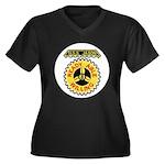 USS JASON Women's Plus Size V-Neck Dark T-Shirt