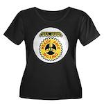 USS JASO Women's Plus Size Scoop Neck Dark T-Shirt