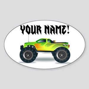 Personalized Monster Truck Sticker (Oval)