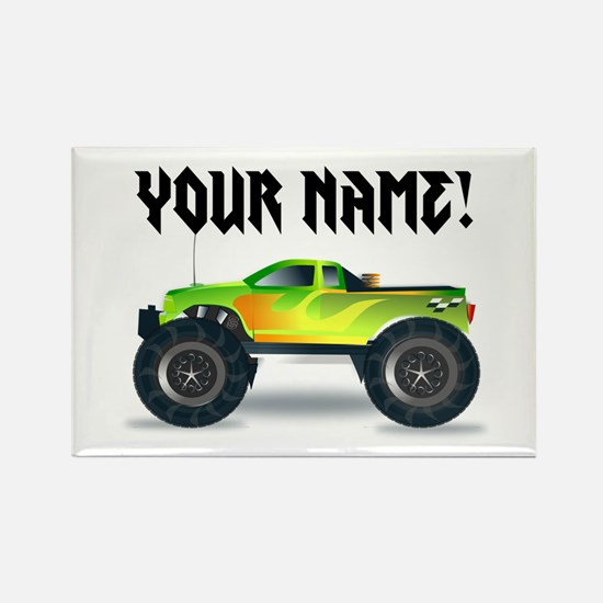 Personalized Monster Truck Rectangle Magnet