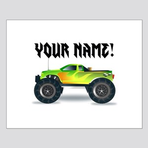 Personalized Monster Truck Small Poster