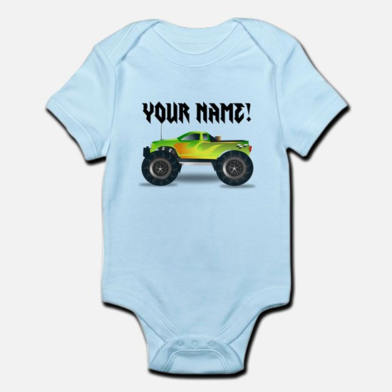 Personalized Monster Truck Infant Bodysuit