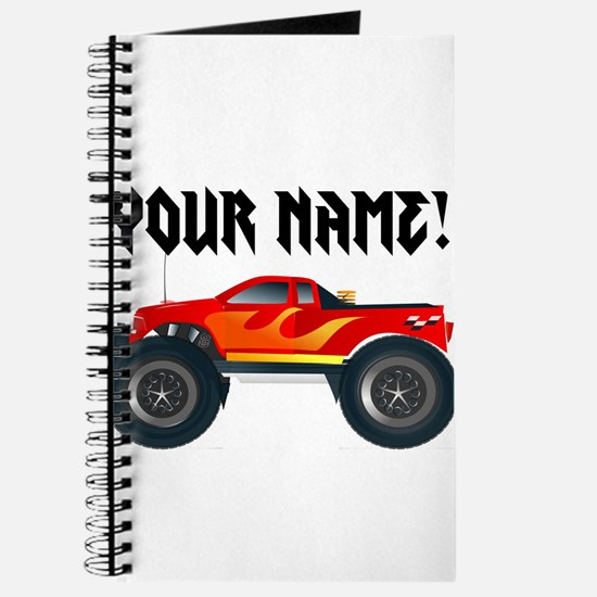 Red Monster Truck Personalized Journal