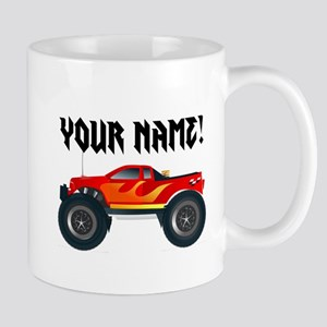 Red Monster Truck Personalized Mug