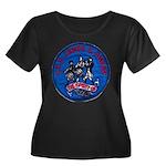 USS JAME Women's Plus Size Scoop Neck Dark T-Shirt
