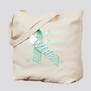 Wife is a Fighter and Survivor Tote Bag