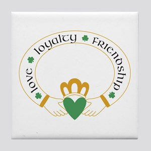 Claddagh Ring -- Tile Coaster