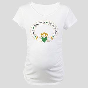 Claddagh Ring -- Maternity T-Shirt