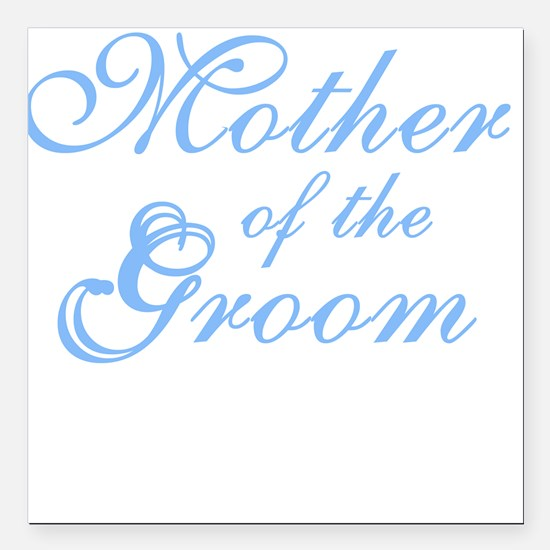 """bluemothergroomnew.png Square Car Magnet 3"""" x 3"""""""