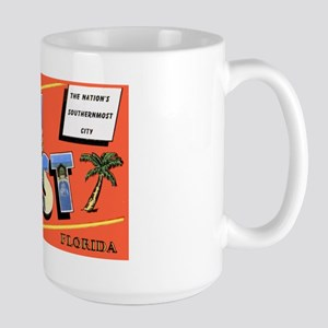 Key West Florida Greetings Large Mug