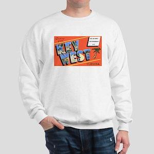 Key West Florida Greetings (Front) Sweatshirt