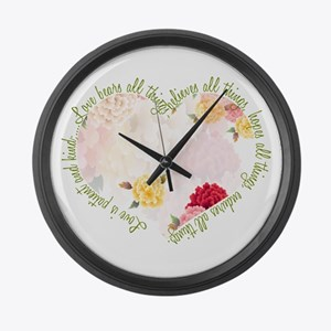 Love is Patient Large Wall Clock