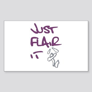 Just Flair it Rectangle Sticker
