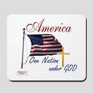 America One Nation Under God Mousepad