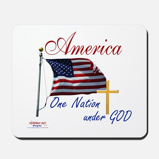 America One Nation Under God Mousepad