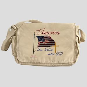 America One Nation Under God Messenger Bag