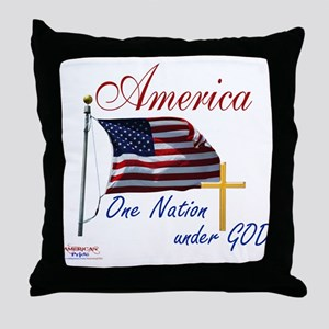 America One Nation Under God Throw Pillow