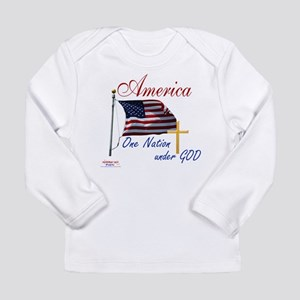 America One Nation Under God Long Sleeve Infant T-