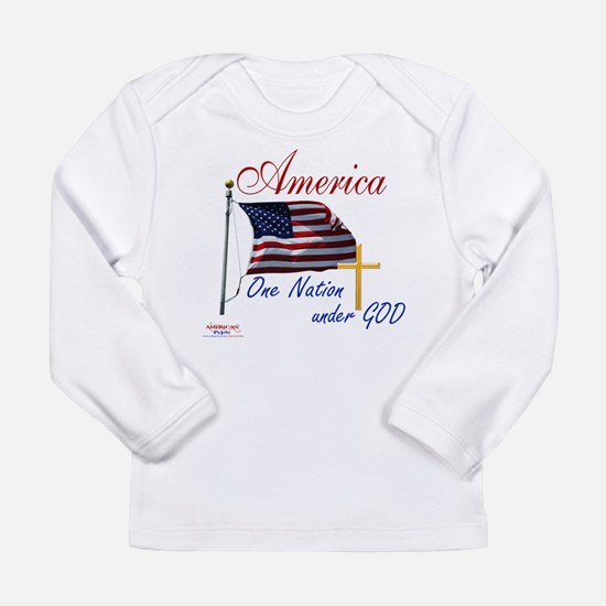 America One Nation Under God Long Sleeve Infant T-
