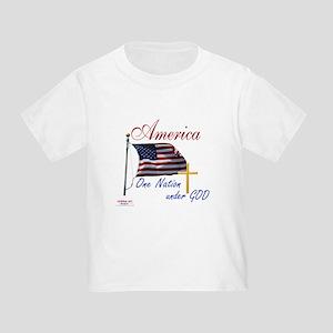 America One Nation Under God Toddler T-Shirt