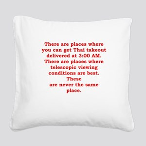 astronomer Square Canvas Pillow