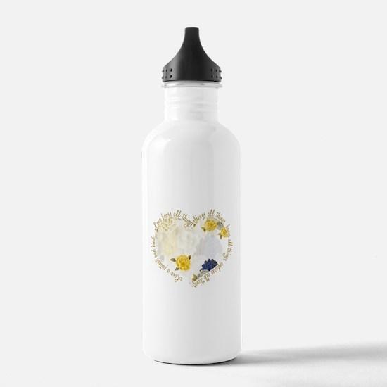 Love is Patient Sports Water Bottle
