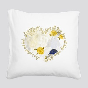 Love is Patient Square Canvas Pillow