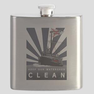 No-Brainer - (Anti-Pebble Mine Campaign) Flask