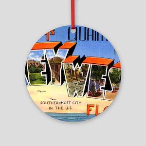 Key West Florida Greetings Ornament (Round)