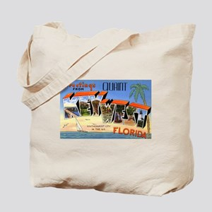 Key West Florida Greetings Tote Bag