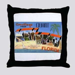 Key West Florida Greetings Throw Pillow