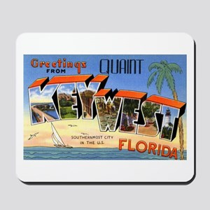 Key West Florida Greetings Mousepad