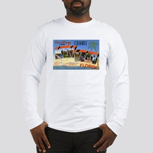 Key West Florida Greetings (Front) Long Sleeve T-S