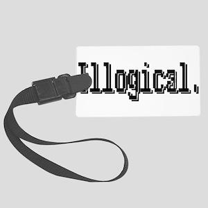 3-illogical spock trans Large Luggage Tag