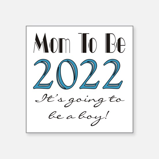 "2017 Future Mom of Boy Square Sticker 3"" x 3"""
