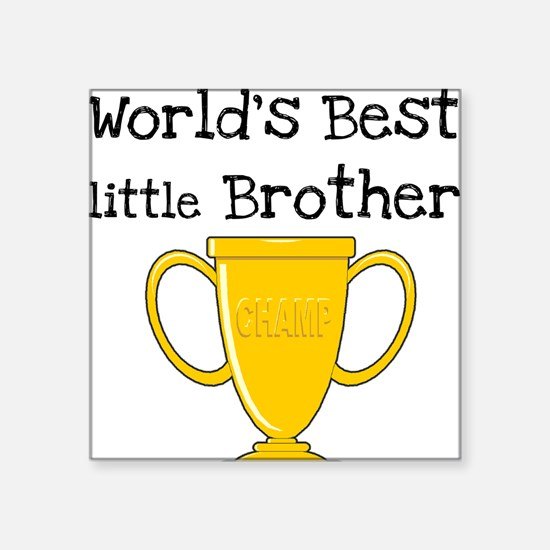 "worldbestlittlebrotee.png Square Sticker 3"" x 3"""