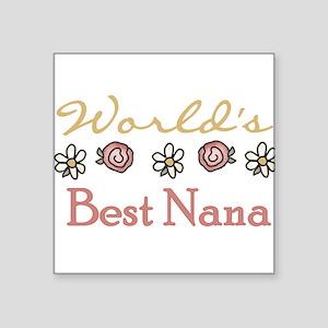"""World's Best Grandma Square Sticker 3"""" x 3&qu"""