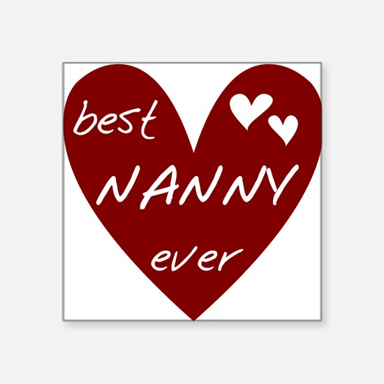 "redbesNANNY.png Square Sticker 3"" x 3"""