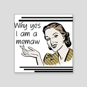 """whyyesmemaw Square Sticker 3"""" x 3"""""""